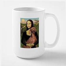 Mona Lisa / Weimaraner Large Mug