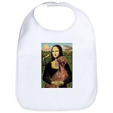 Mona Lisa / Weimaraner Bib