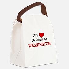 My heart belongs to Washington Di Canvas Lunch Bag
