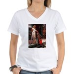 Accolade / Weimaraner Women's V-Neck T-Shirt