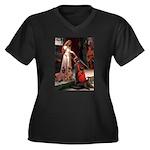 Accolade / Weimaraner Women's Plus Size V-Neck Dar