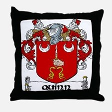 Quinn Coat of Arms Throw Pillow