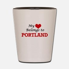 My heart belongs to Portland Oregon Shot Glass