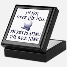 Just Playin' the Back Nine Keepsake Box