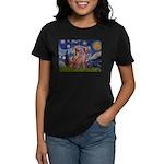Starry / 2 Weimaraners Women's Dark T-Shirt