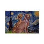 Starry / 2 Weimaraners Rectangle Magnet (10 pack)