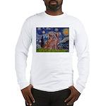 Starry / 2 Weimaraners Long Sleeve T-Shirt