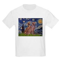 Starry / 2 Weimaraners T-Shirt