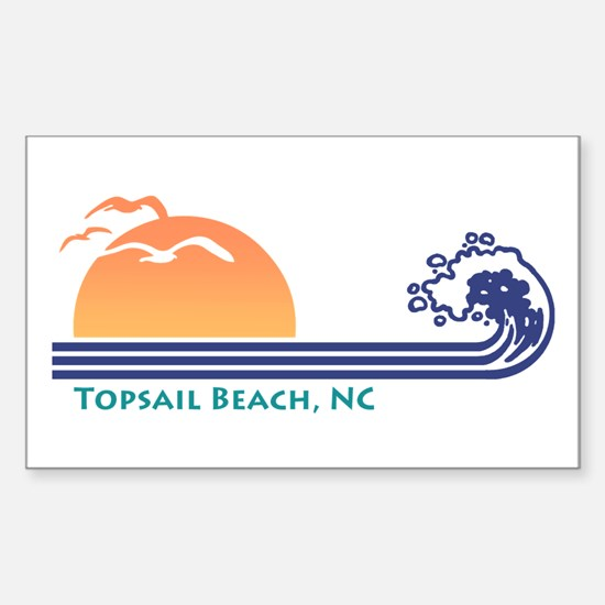 Topsail Beach NC Sticker (Rectangle)