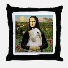 Mona / Tibetan T Throw Pillow