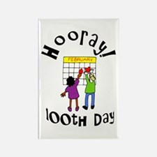 100th Day Hooray! Rectangle Magnet