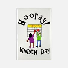 100th Day Hooray! Rectangle Magnet (100 pack)