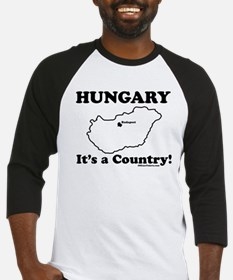 Hungary is a Country Baseball Jersey