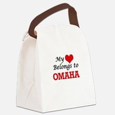 My heart belongs to Omaha Nebrask Canvas Lunch Bag