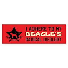 BEAGLE Radical Ideology - Bumper Bumper Sticker