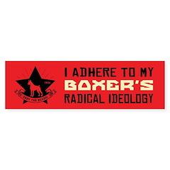 BOXER Radical Ideology Bumper Bumper Sticker