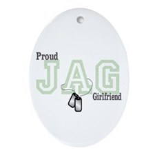 jag girlfriend Oval Ornament