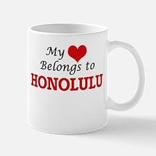 My heart belongs to Honolulu Hawaii Mugs