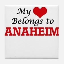 My heart belongs to Anaheim Californi Tile Coaster