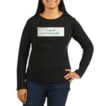Go green. Vote Democratic. Women's Long Sleeve Dar