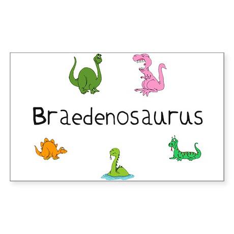 Braedenosaurus Rectangle Sticker