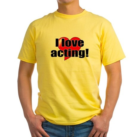 """ThMisc """"I Love Acting"""" Yellow T-Shirt"""