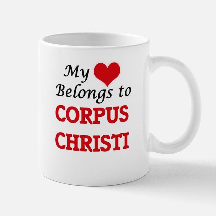 My heart belongs to Corpus Christi Texas Mugs