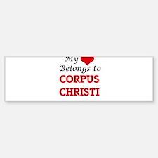 My heart belongs to Corpus Christi Bumper Bumper Bumper Sticker