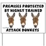 Donkey attack sign Yard Signs