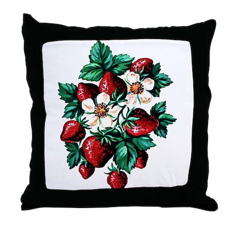 Strawberry Fields - Throw Pillow