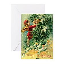 Christmas Santa Claus Greeting Cards (Pk of 10)