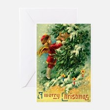 Christmas Santa Claus Greeting Cards (Pk of 10)