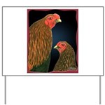 Chantecler Rooster and Hen Yard Sign
