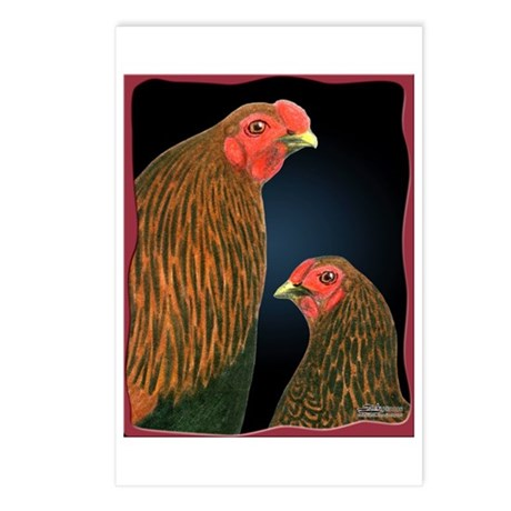 Chantecler Rooster and Hen Postcards (Package of 8