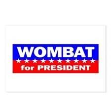 Wombat for President Postcards (Package of 8)