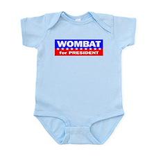 Wombat for President Infant Bodysuit
