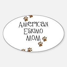 American Eskimo Mom Oval Decal