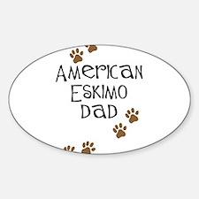 American Eskimo Dad Oval Decal