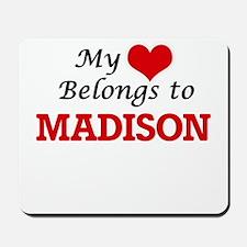 My heart belongs to Madison Wisconsin Mousepad