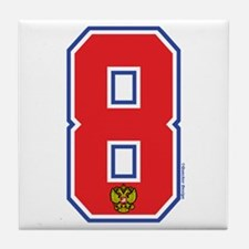 RU Russia/Rossiya Hockey8 Tile Coaster