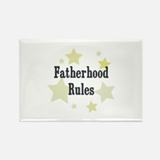 Fatherhood Rules Rectangle Magnet