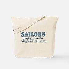 Funny Proud navy girlfriend Tote Bag