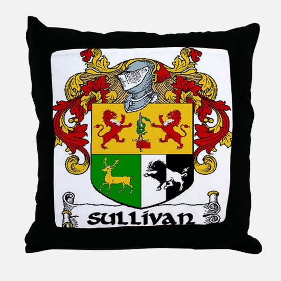 Sullivan Coat of Arms Throw Pillow