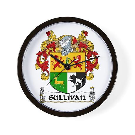 Sullivan Coat of Arms Wall Clock