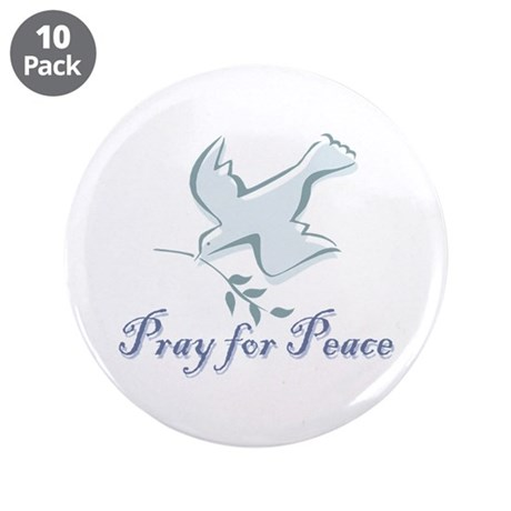 """Pray for Peace 3.5"""" Button (10 pack)"""