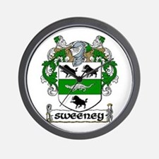Sweeney Coat of Arms Wall Clock