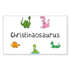 Christinaosaurus Rectangle Decal