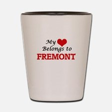 My heart belongs to Fremont California Shot Glass