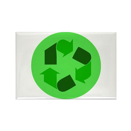 Recycle Green Symbol Rectangle Magnet