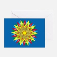 Burst of Color Star Greeting Card